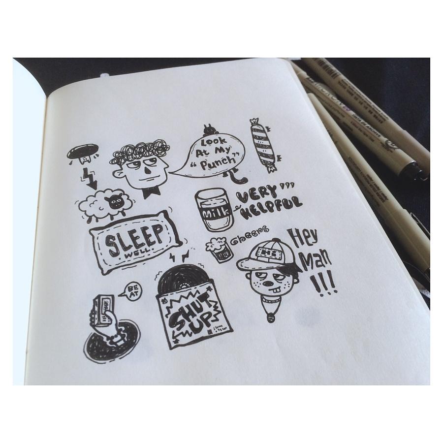日练 随笔 涂鸦 晒本22