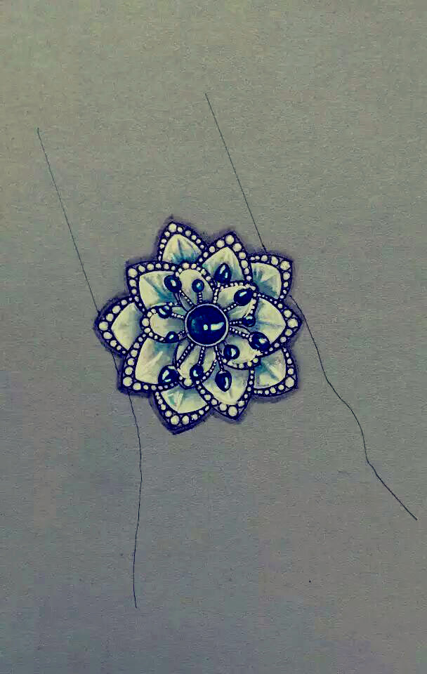 原创作品:珠宝手绘
