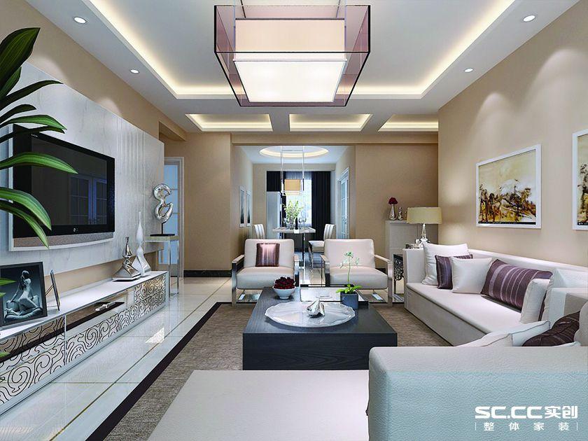现代简约风格四居室137平米装修设计效果图