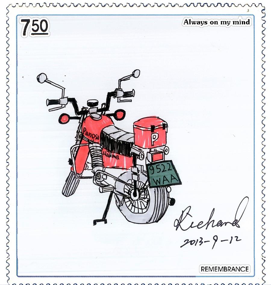 马克笔小作:精致的摩托车(10岁)|展示/橱窗/店面设计