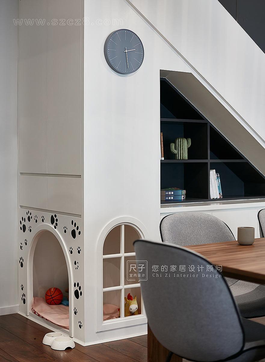 尺子室内设计:惊鸿| 175㎡复式公寓,有汪星人的家图片