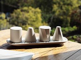 把茶杯当成建筑,让茶杯不再是桌面的负担:比萨杯