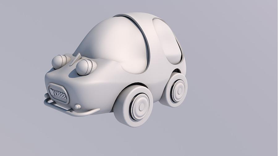 原创作品:小小汽车图片