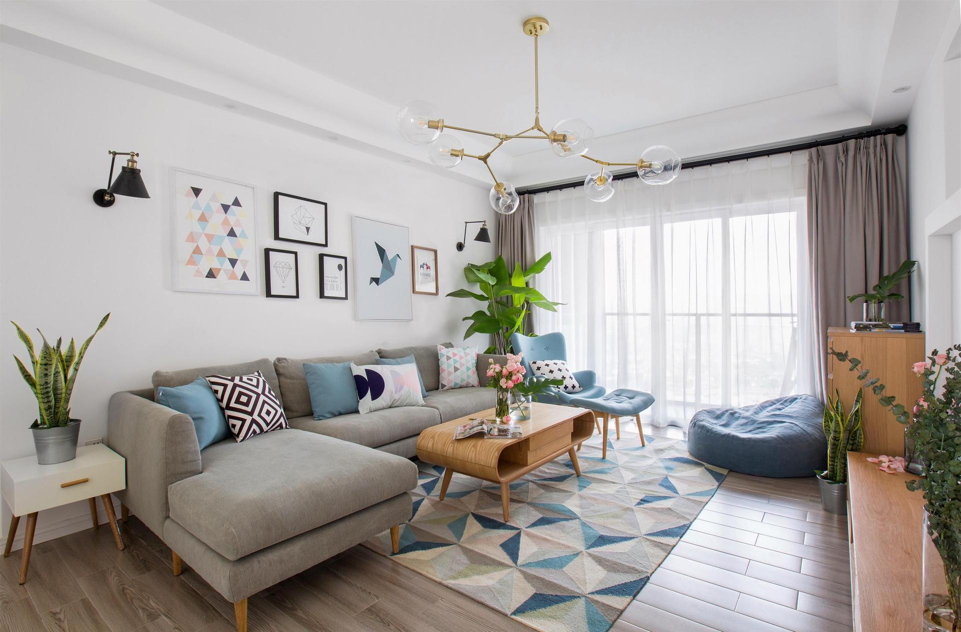 现代北欧风格图|空间|室内设计|元度装饰设计公司