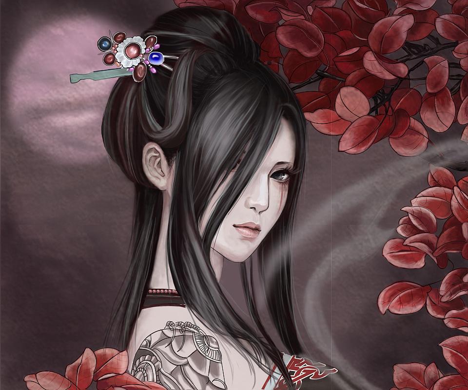 手绘板美女 壁纸