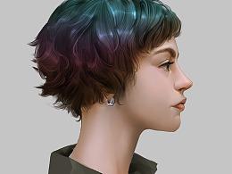这个发型颜色很好看的嘛 