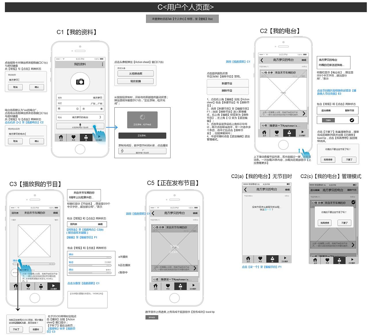 app项目线框原型与交互文档图片