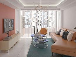 室内设计35期0基础张同学现代风格橙色主题方案