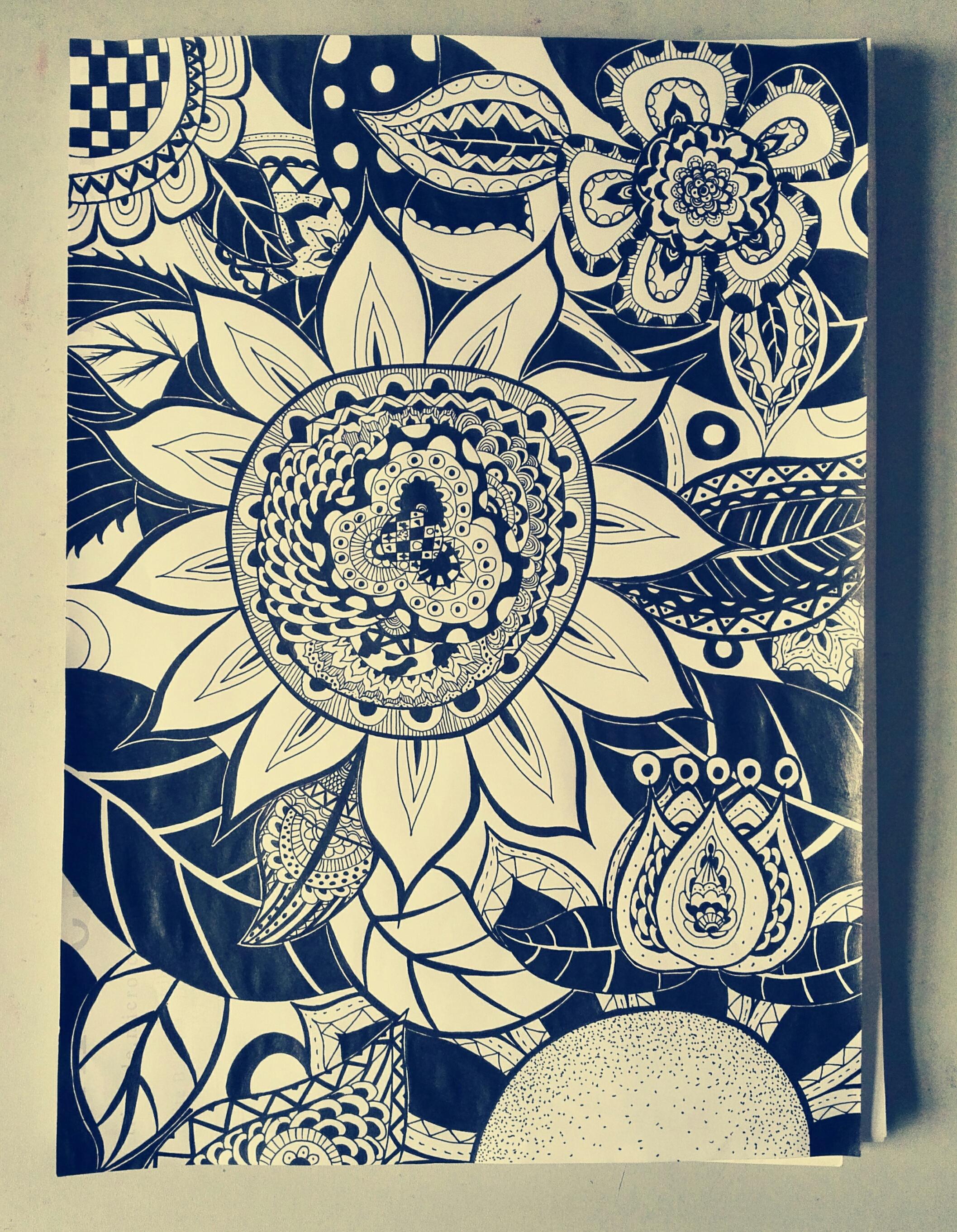 花朵黑白装饰画图片展示_花朵黑白装饰画相关图片下载图片
