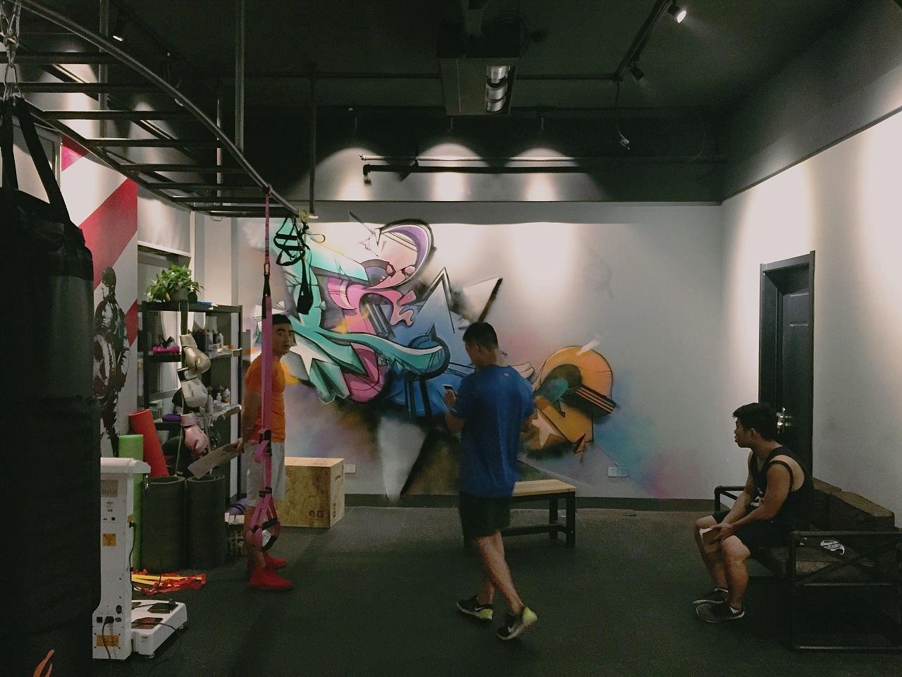 iron 健身房涂鸦墙绘(教程?)