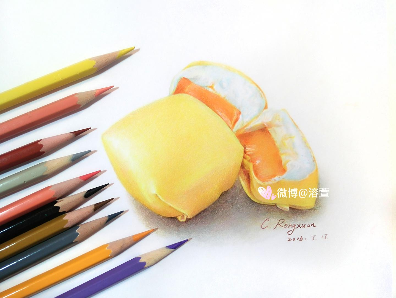 【溶萱手绘——彩铅美食】芒果班戟
