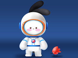 给探月小兔Rubi 试一个新的形象