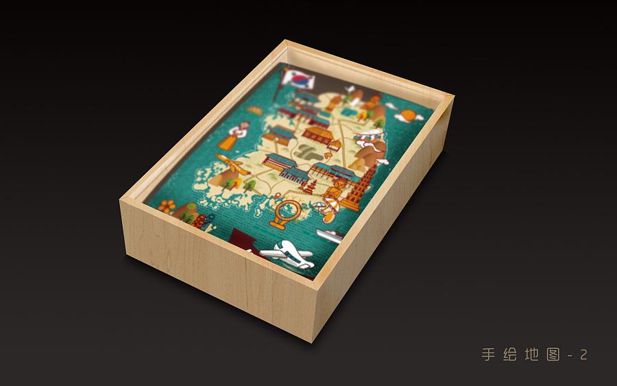 手绘地图包装|包装|平面|小小小yun - 原创设计作品