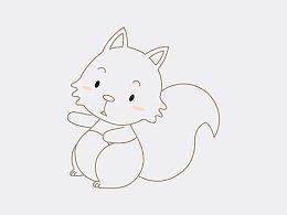 教大家如何画可爱的小动物吉祥物形象~~