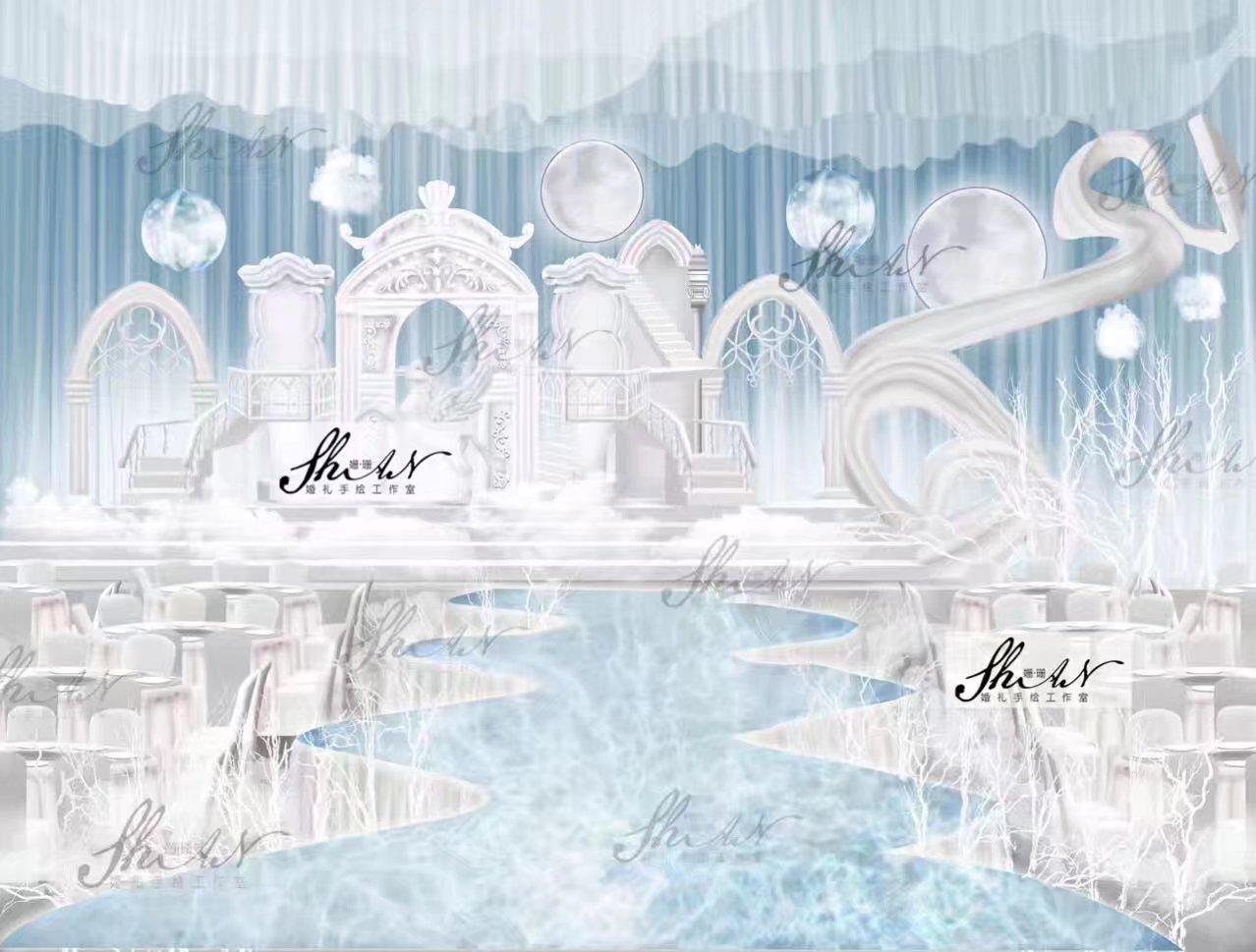 姗珊婚礼手绘设计作品|平面|宣传品|姗珊手绘工作室