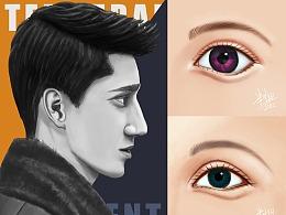 201905月男性头像+眼睛练习