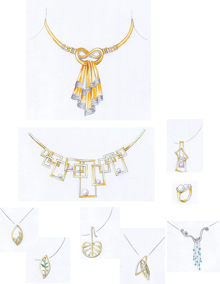 珠宝手绘|首饰|手工艺|hx37 - 原创设计作品 - 站酷