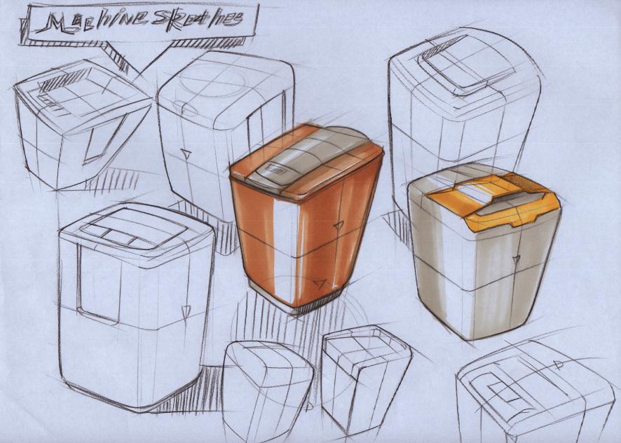 工业设计手绘手稿|其他产品|工业/产品|sezign