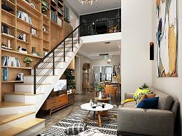 1992效果图北欧单身公寓出图效果图
