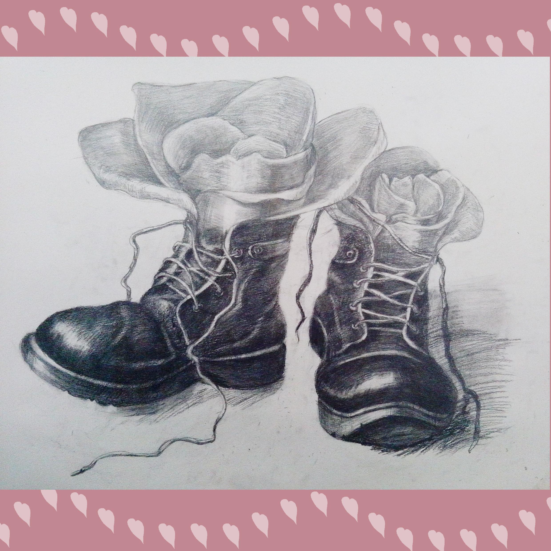 素描画【靴】