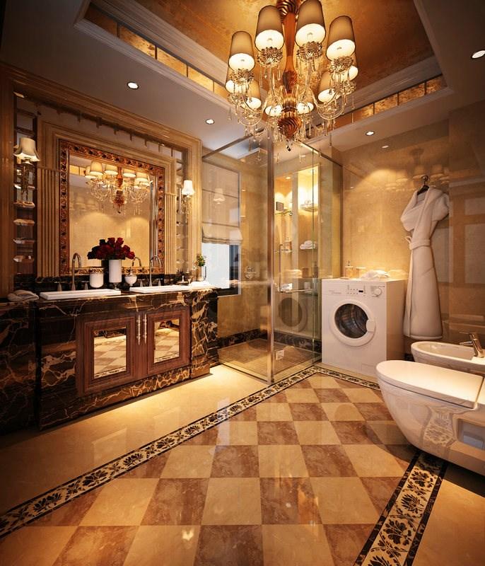 西山一号别墅a1户型420平欧式大宅风格装修设计案例