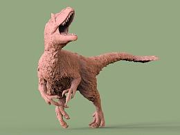 羽王龙3D打印雕像