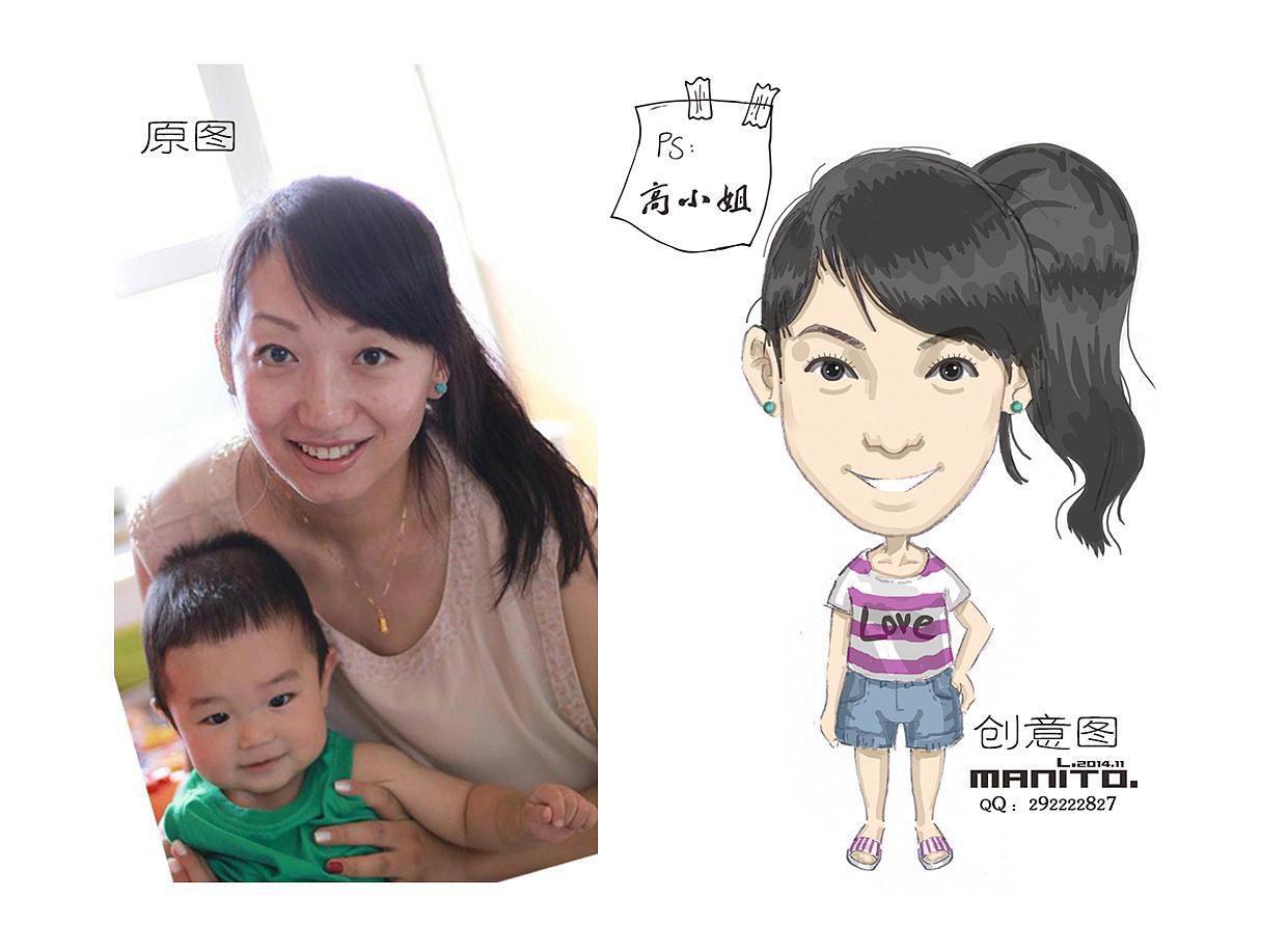 原创手绘q版人物漫画(偏写实风格)-部分习作