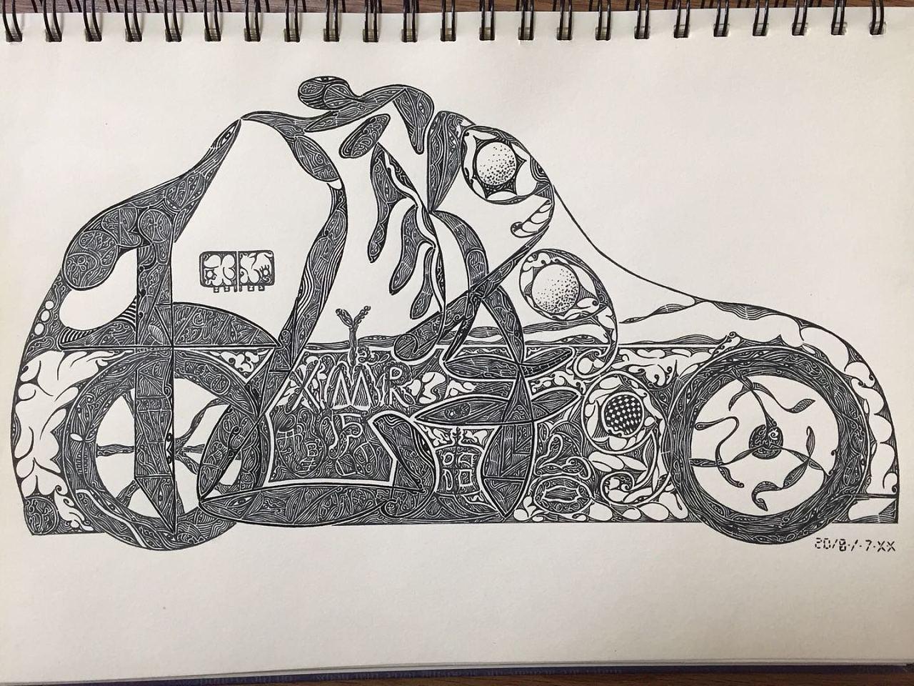 黑白手绘|插画|其他插画|原生美术 - 原创作品 - 站酷
