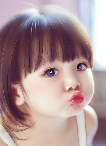 照片手绘-小孩子