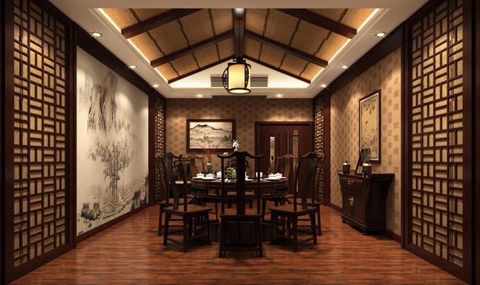 《案例中式课程所v案例茶楼》-中卫装潢专业古镇室内设计主修茶楼图片