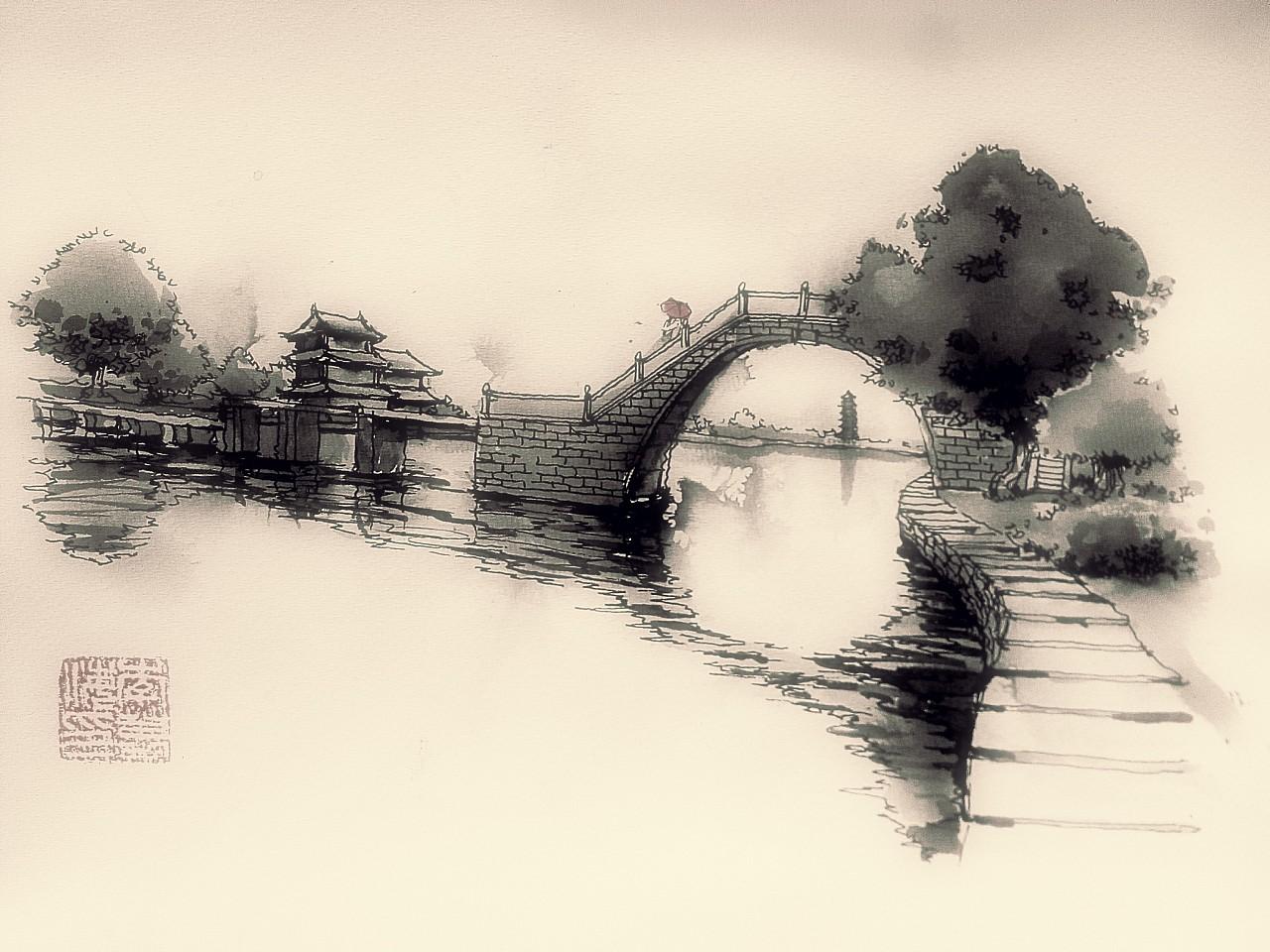 李万海-w-手绘    长桥