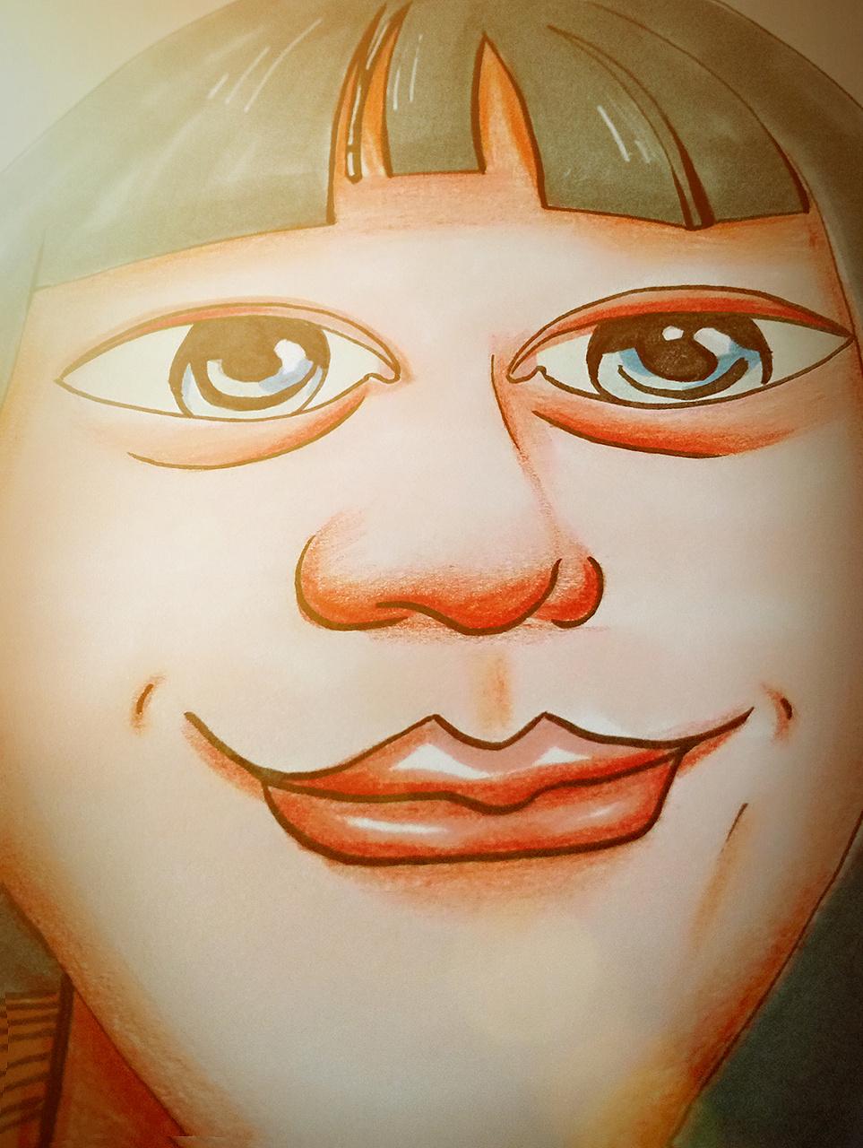原创马克笔手绘头像 彩铅