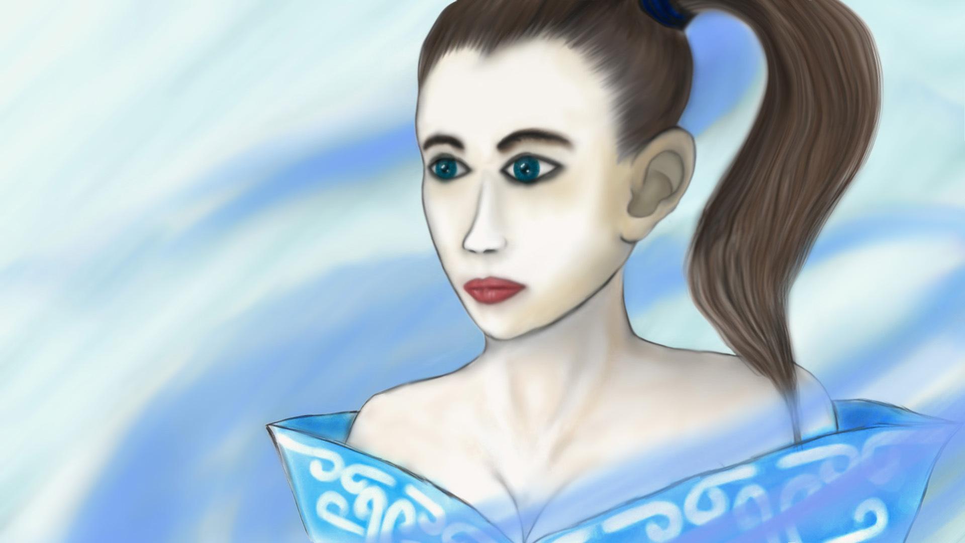 金泰亨小丑女手绘