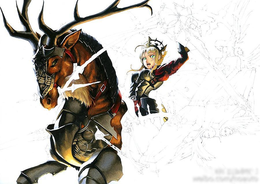 马克笔手绘作品-《骑士王的祝福》