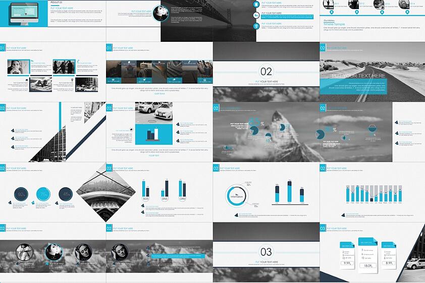 2015ppt创意设计之商务科技汇报模板/ppt模板/ppt下载图片