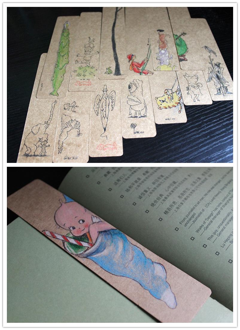 纯手绘明信片/小书签/新年祝福/圣诞贺卡/绘本|涂鸦