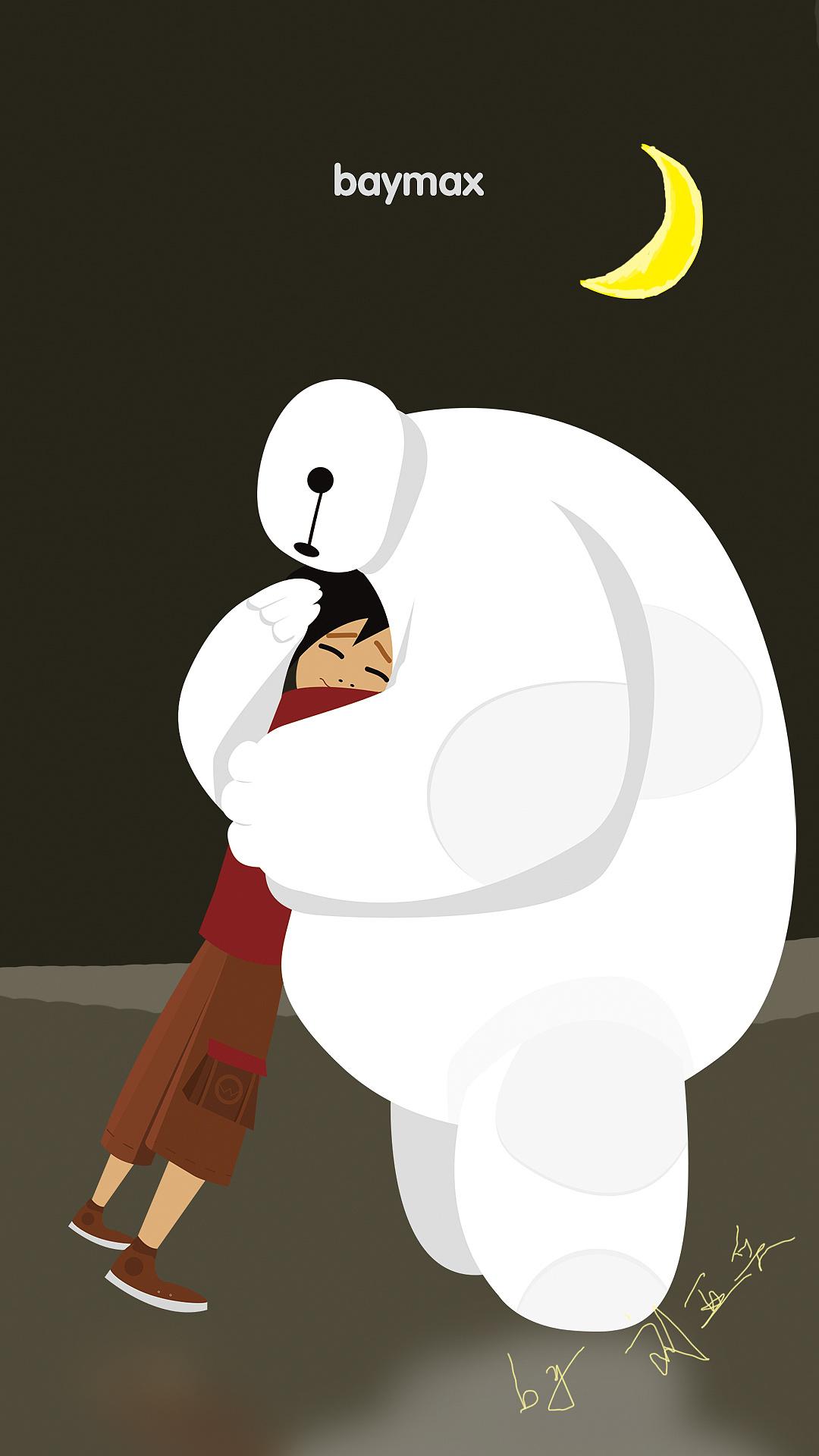 带我去月球_baymax 大白——自你走后,我便永远是个病人|动漫|单幅漫画|想去 ...