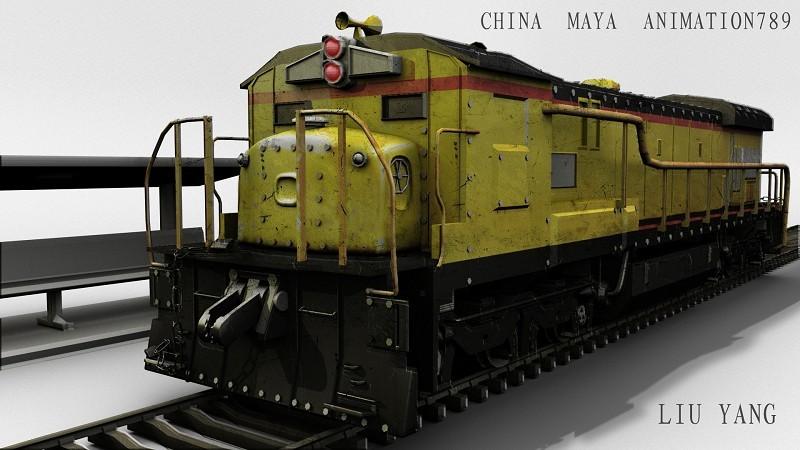 原创作品:3d渲染火车头