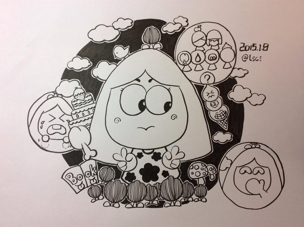 原创手绘黑白小画1
