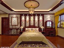 紫云轩中式装修案例 卧室