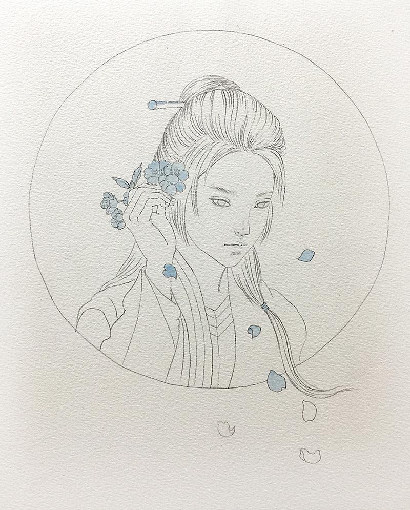 水彩手绘琅琊榜风起长林女主步骤图