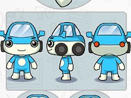 汽车情侣 吉祥物 卡通 形象设计