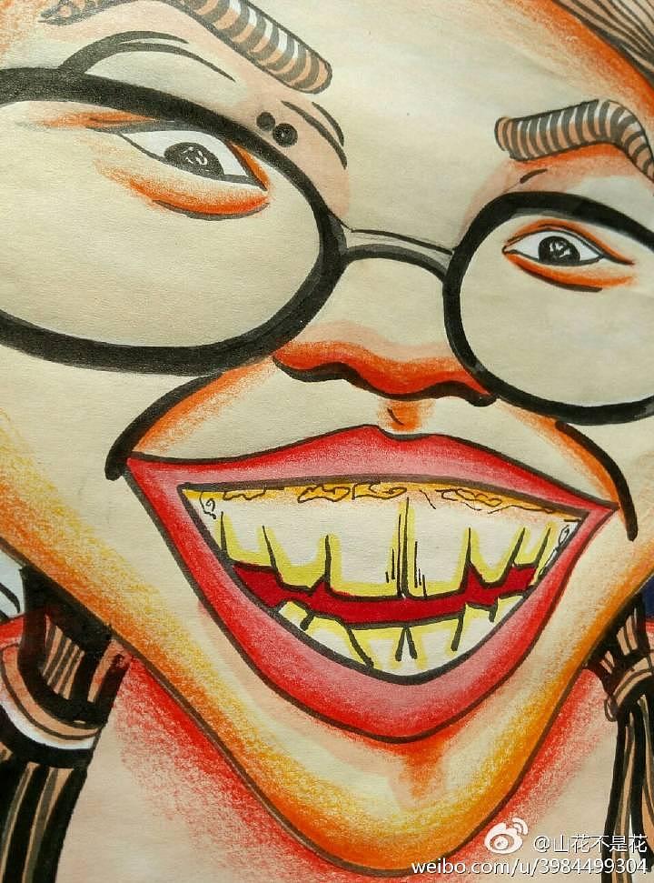 原创手绘马克笔 彩铅头像|插画|涂鸦/潮流|山花不是花