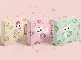 曲奇零食 猫咪主题手绘插画包装设计 谢安妮