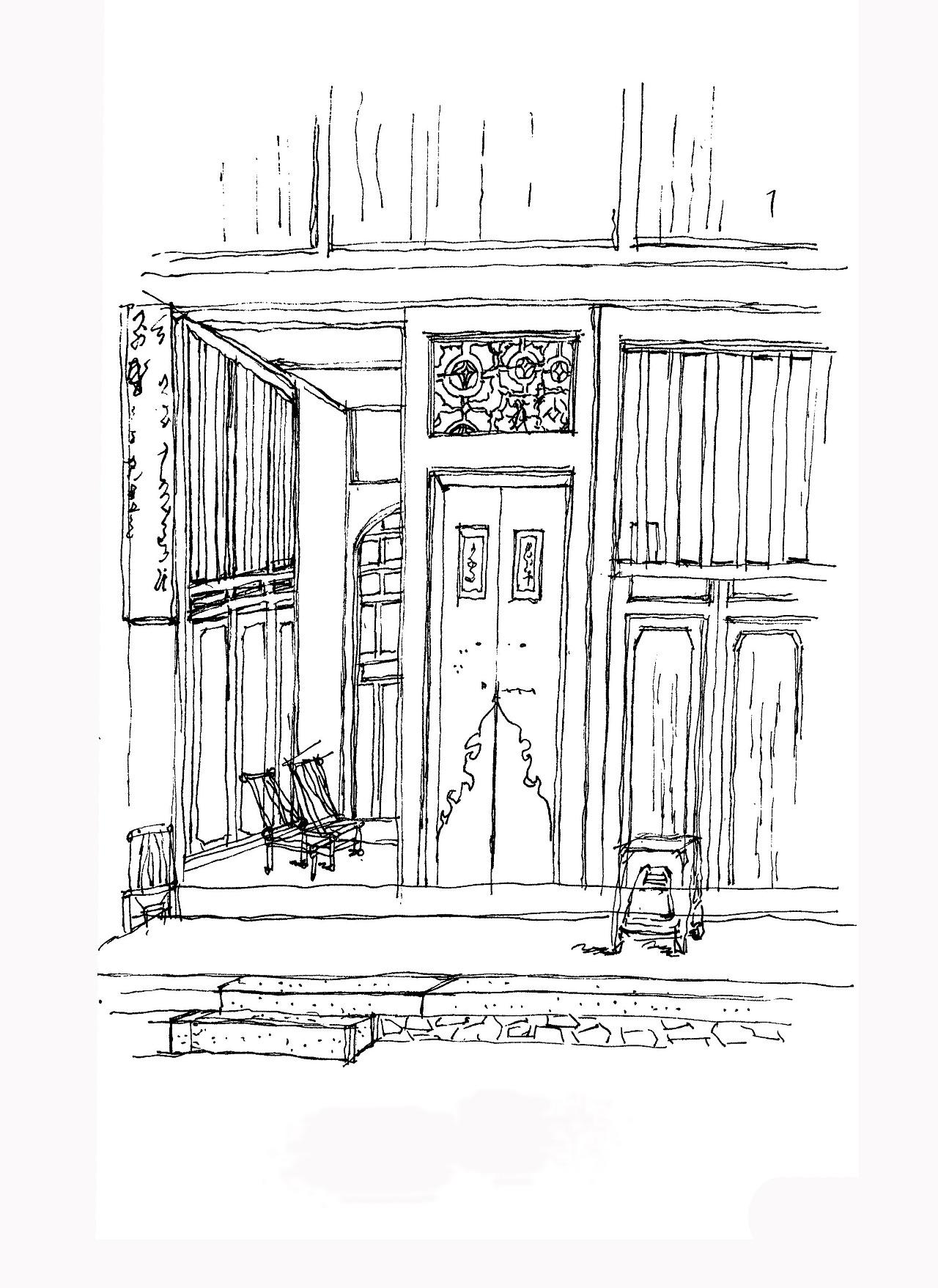 福建土楼手绘|空间|建筑设计|l_vagrant - 原创作品