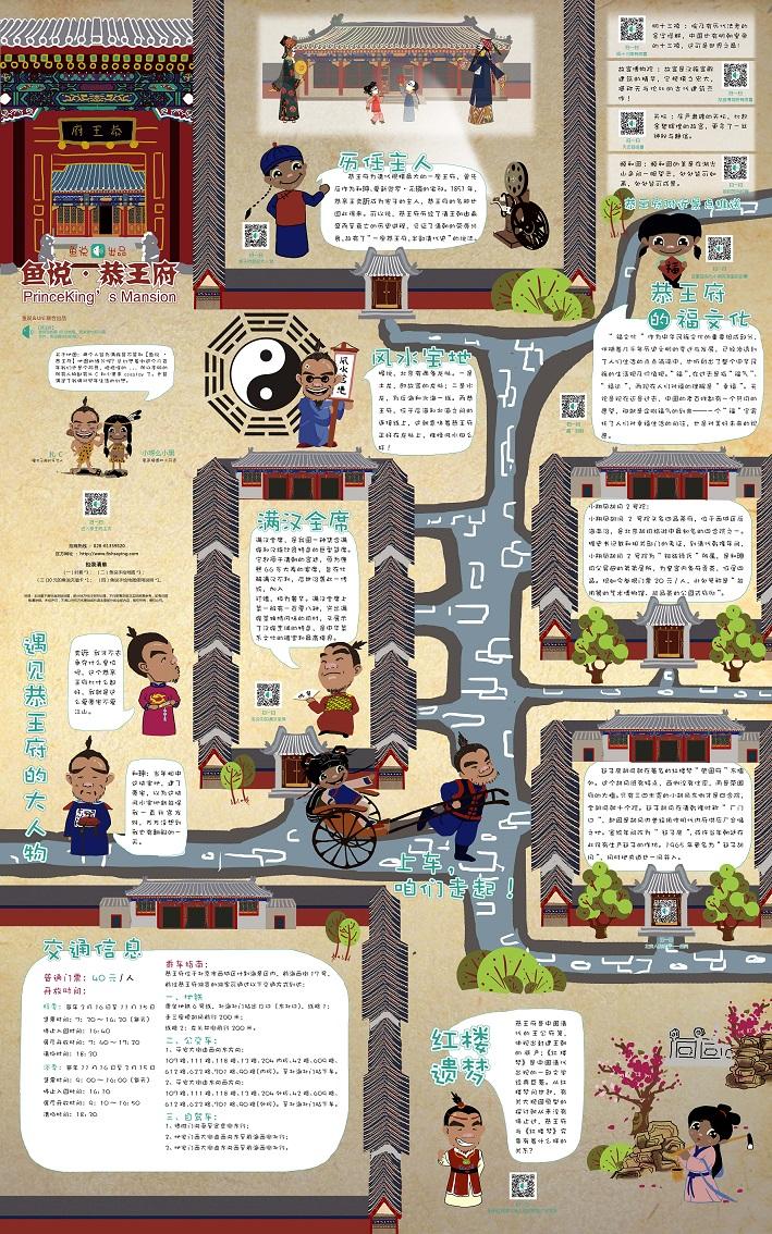 恭王府手绘地图|商业插画|插画|小呀么小黑