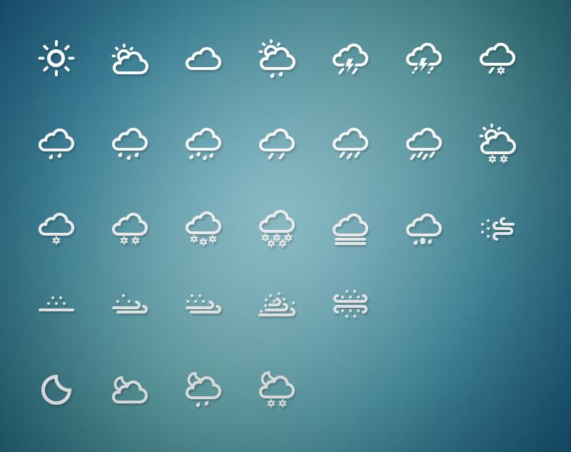 冰苞天气符号剪贴画