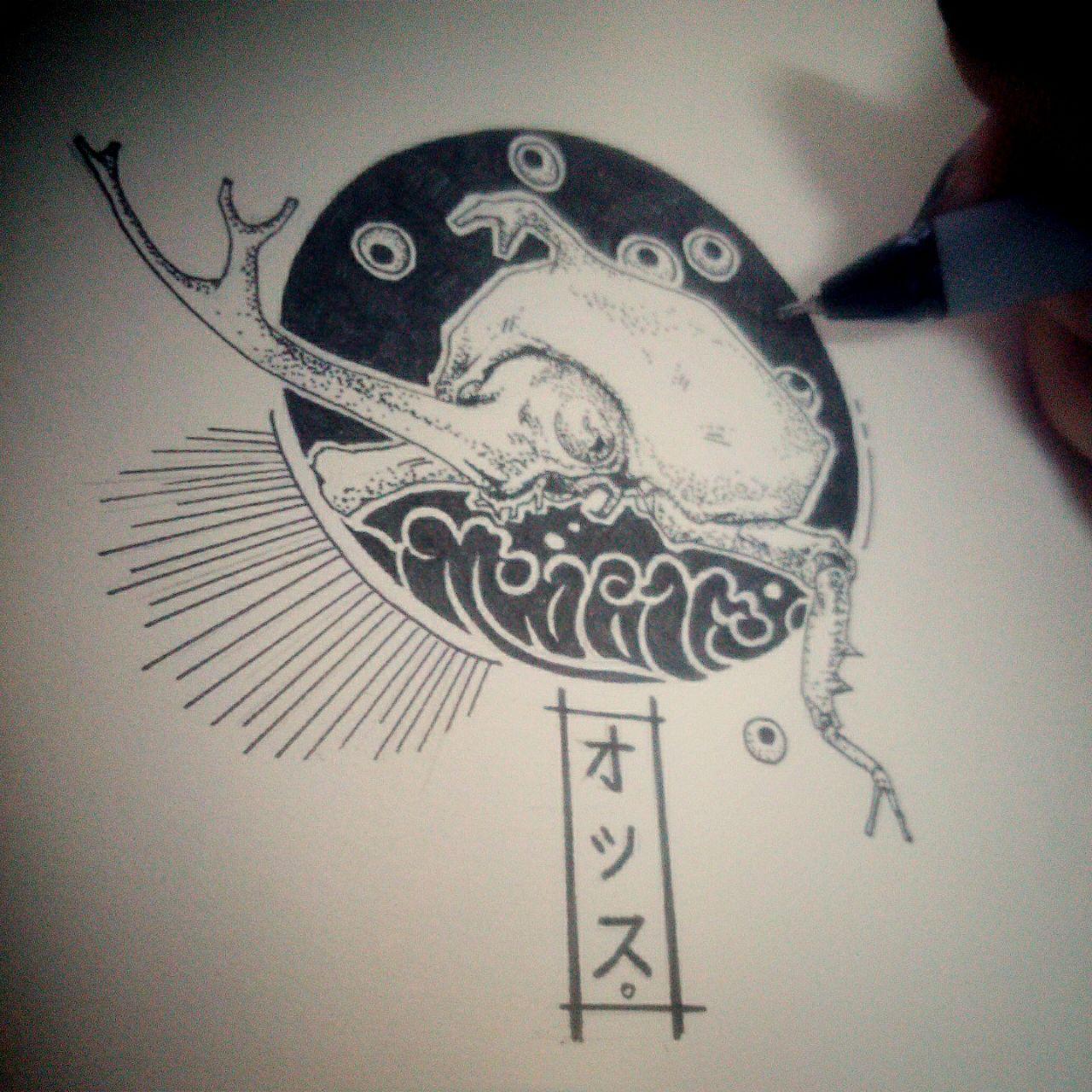 本意是想画来纹身的图,鉴于妈妈会打断腿计划还是胎死