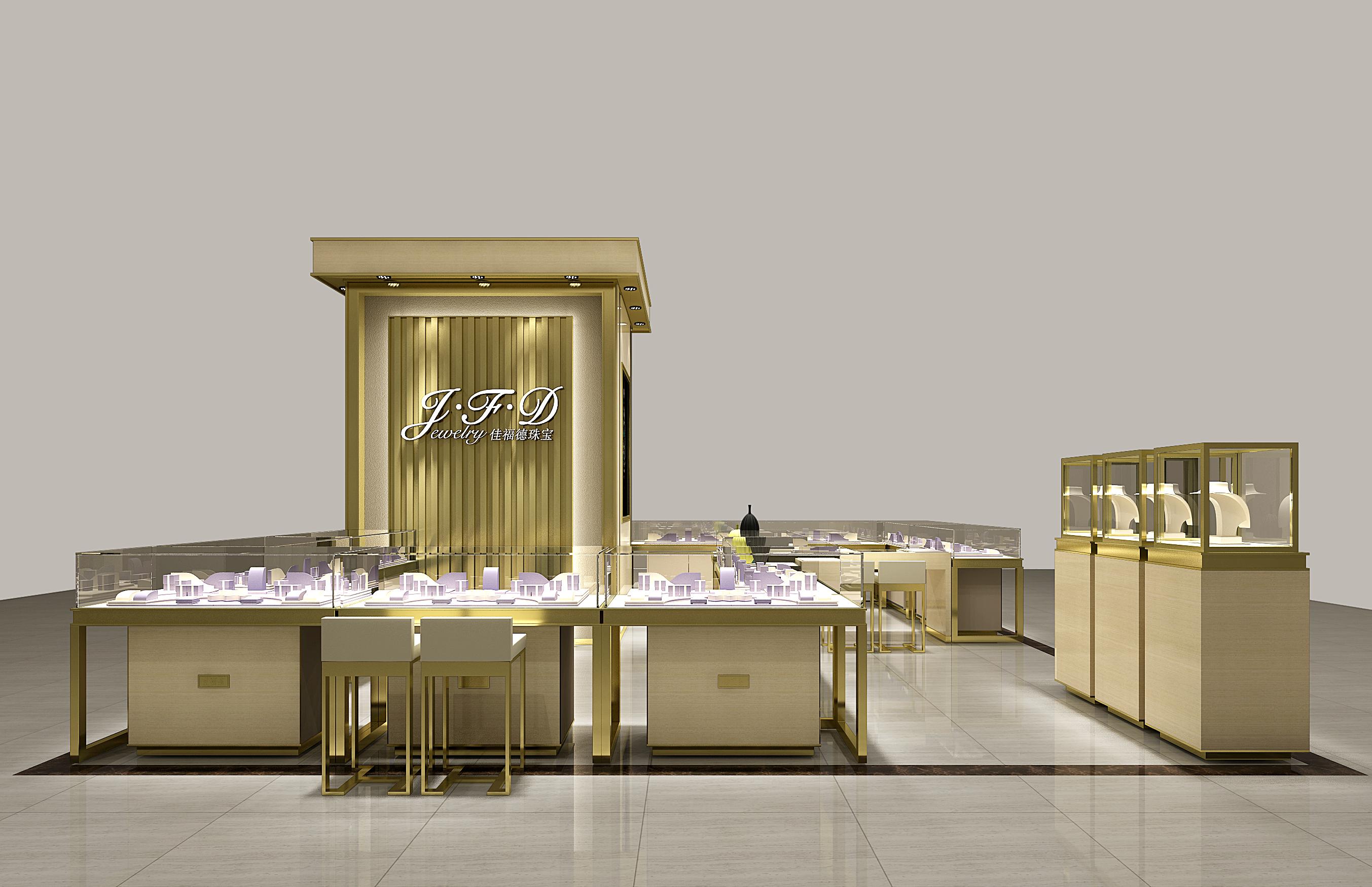 50㎡珠宝店 空间 室内设计 mr丶雷 - 原创作品 - 站酷图片