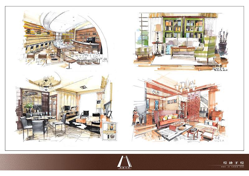 绘迹手绘第一季(一)|空间|室内设计|绘迹手绘 - 原创
